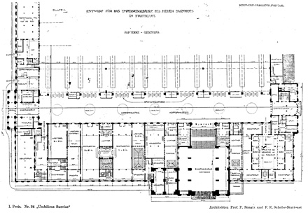 Plan of Bonatz´s contest design